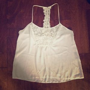 White Camisole with Lace Detail